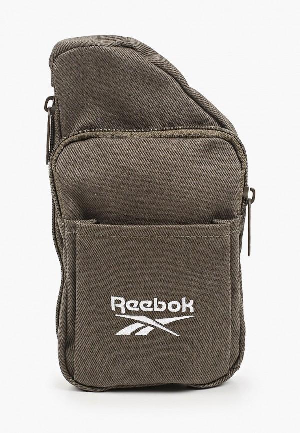 женская сумка через плечо reebok classic, хаки