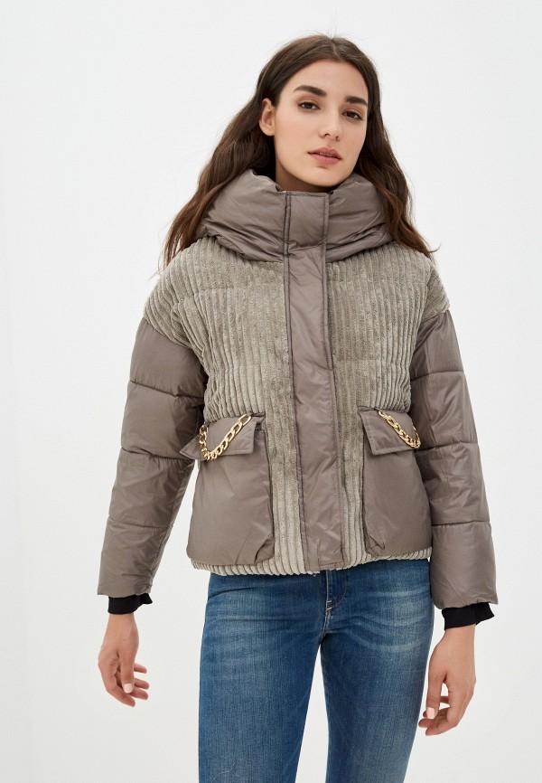 женская утепленные куртка diverius, серая