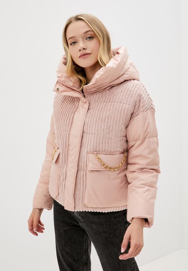 женская утепленные куртка diverius, розовая