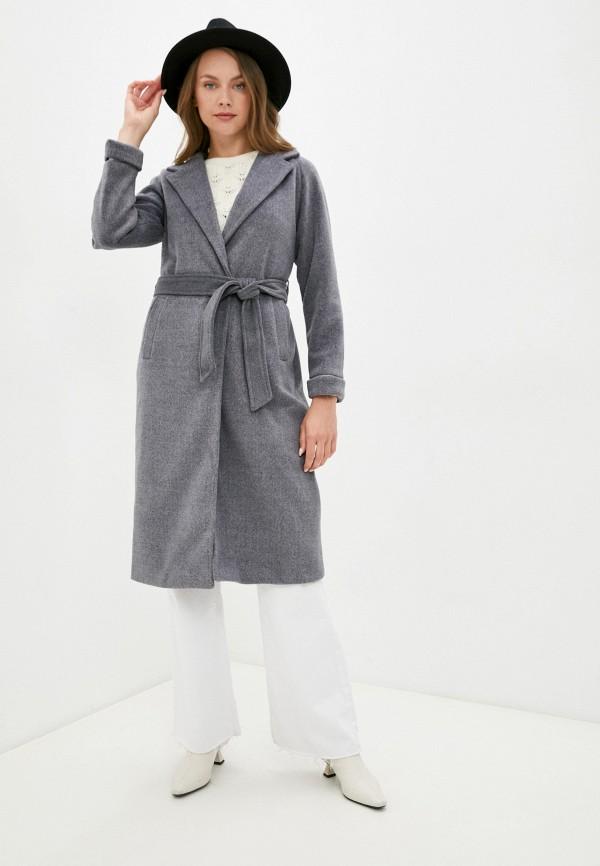 женское пальто diverius, серое