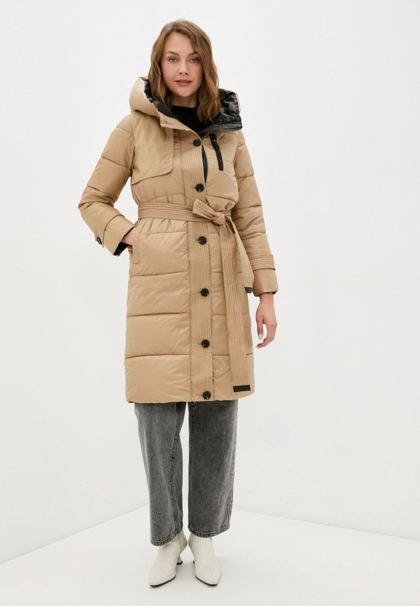 женская утепленные куртка diverius, бежевая