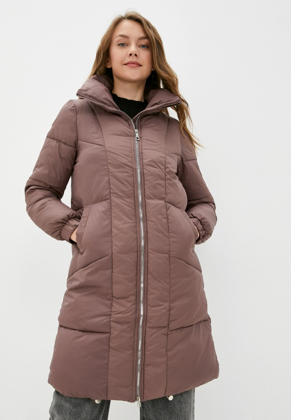 женская утепленные куртка diverius, коричневая