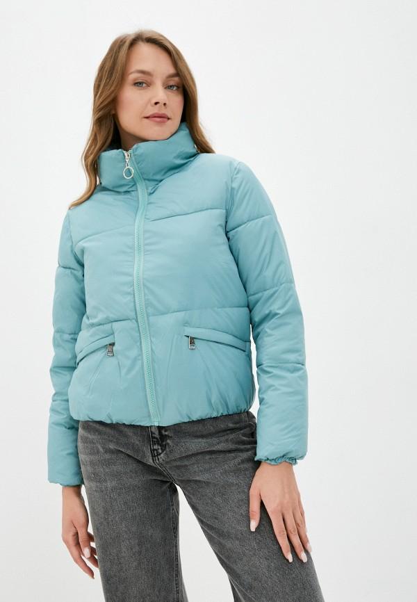 женская утепленные куртка diverius, бирюзовая