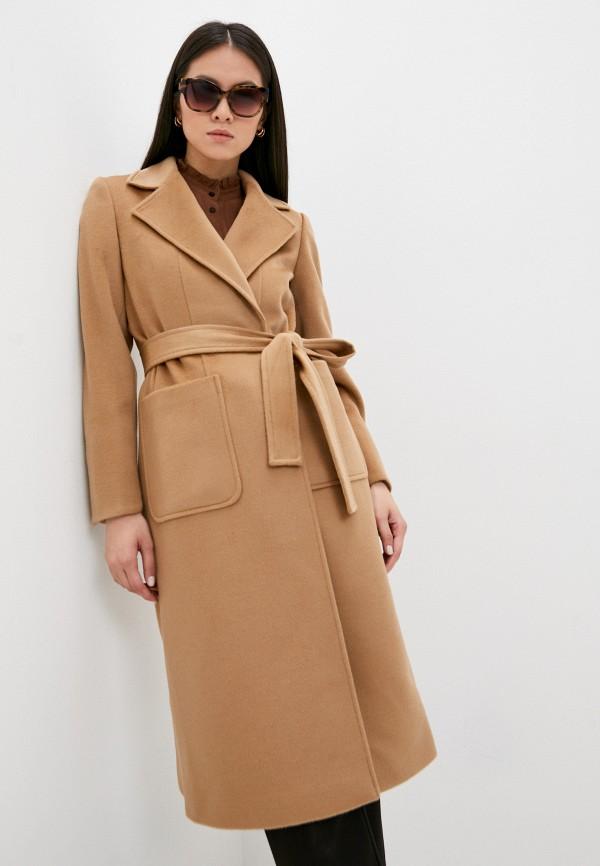 женское пальто max&co, коричневое