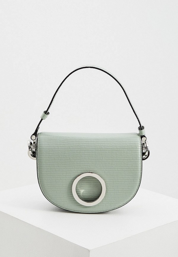 женская сумка с ручками max&co, зеленая