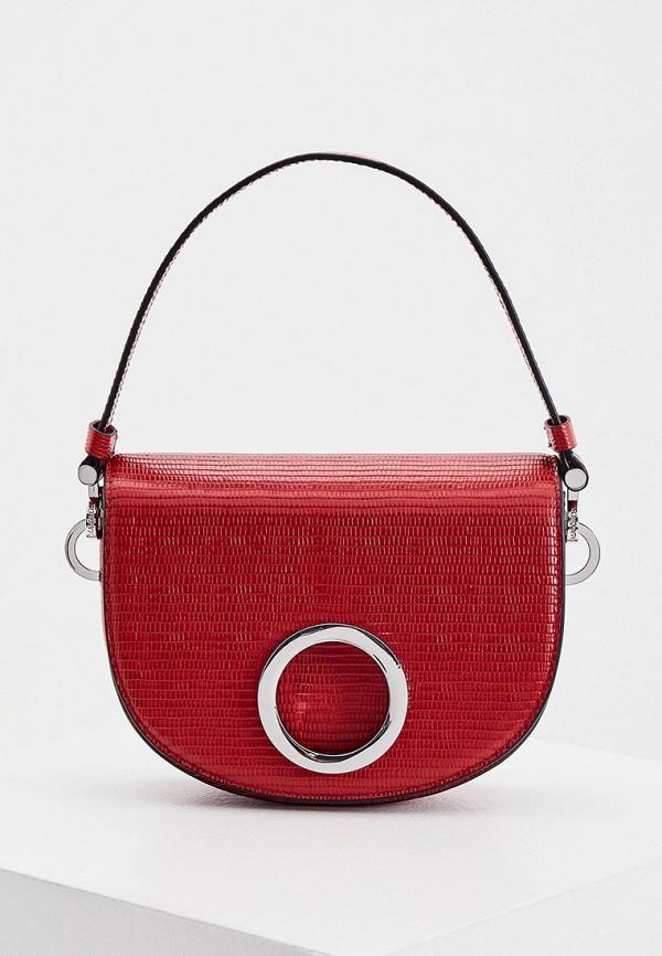 женская сумка с ручками max&co, красная