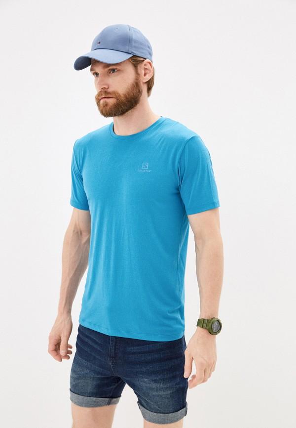 мужская спортивные футболка salomon, голубая