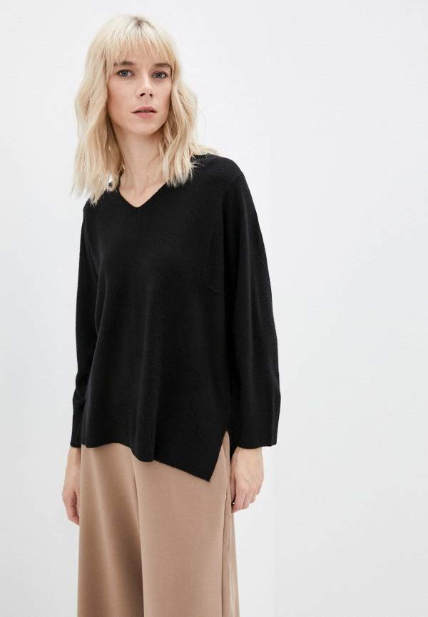 женский пуловер french connection, черный