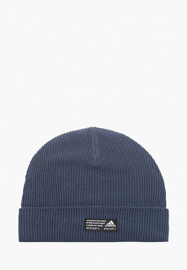 женская шапка adidas, синяя
