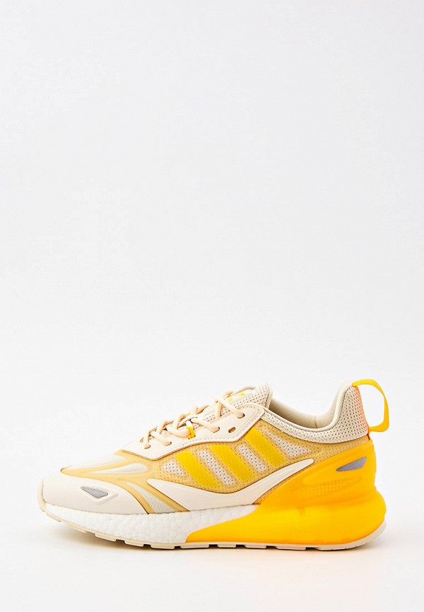 женские низкие кроссовки adidas, желтые