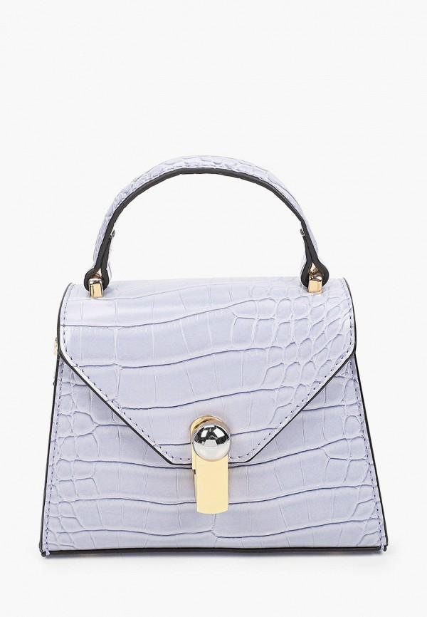 женская сумка с ручками topshop, фиолетовая