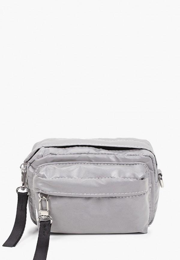 женская сумка через плечо topshop, серебряная