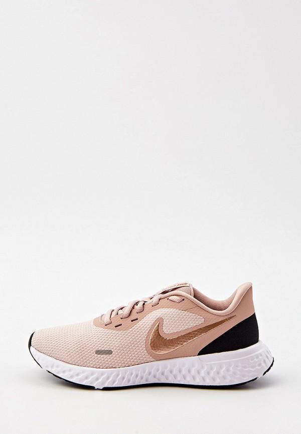 женские низкие кроссовки nike, розовые