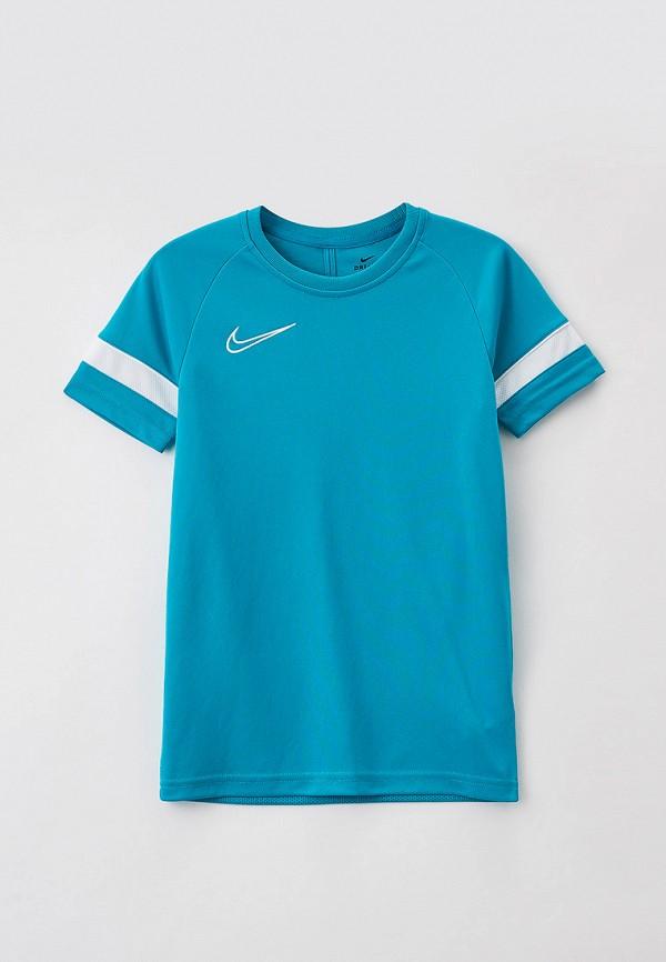 футболка с коротким рукавом nike малыши, бирюзовая