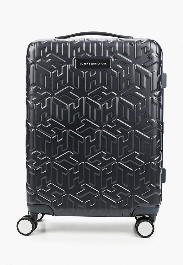 женский чемодан tommy hilfiger, синий