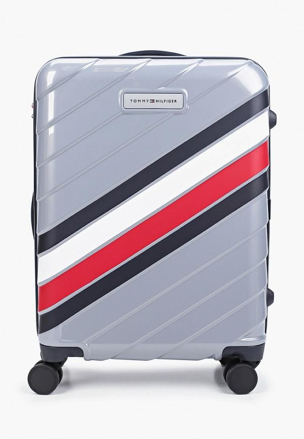 женский чемодан tommy hilfiger, серый