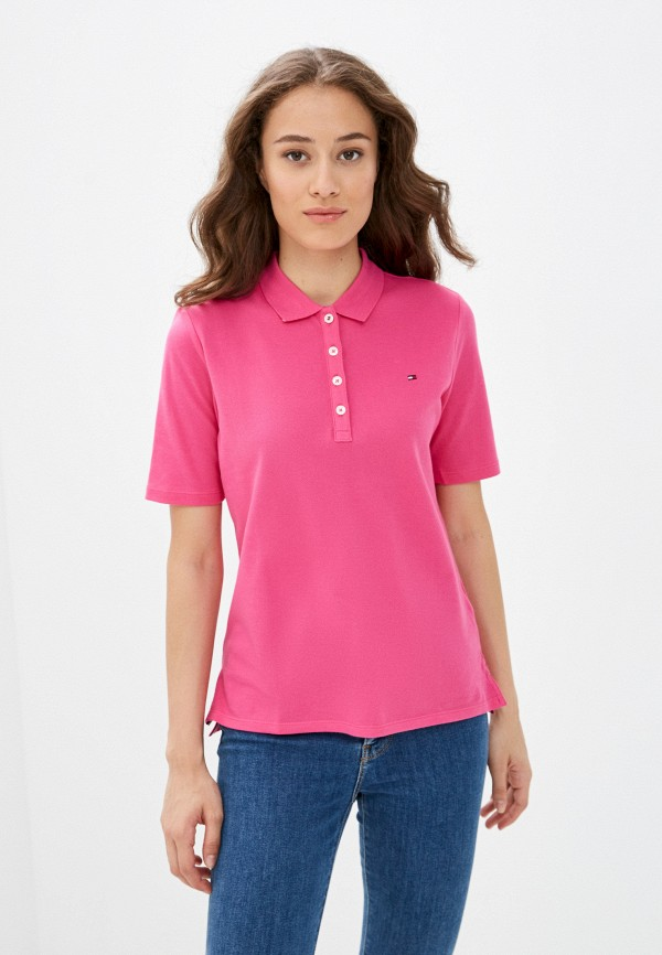 Поло Tommy Hilfiger розового цвета