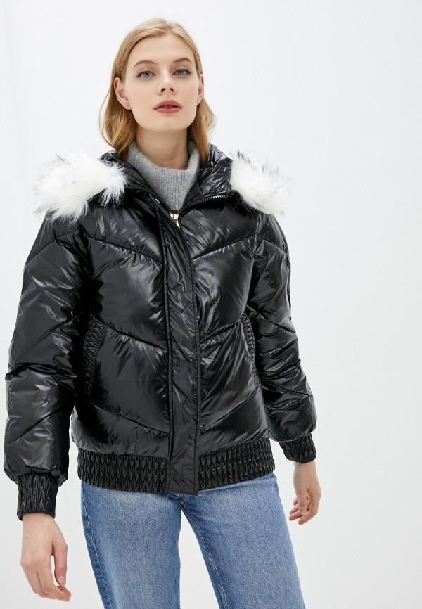 женская утепленные куртка aaquamarina, черная