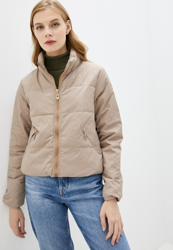 женская утепленные куртка aaquamarina, коричневая