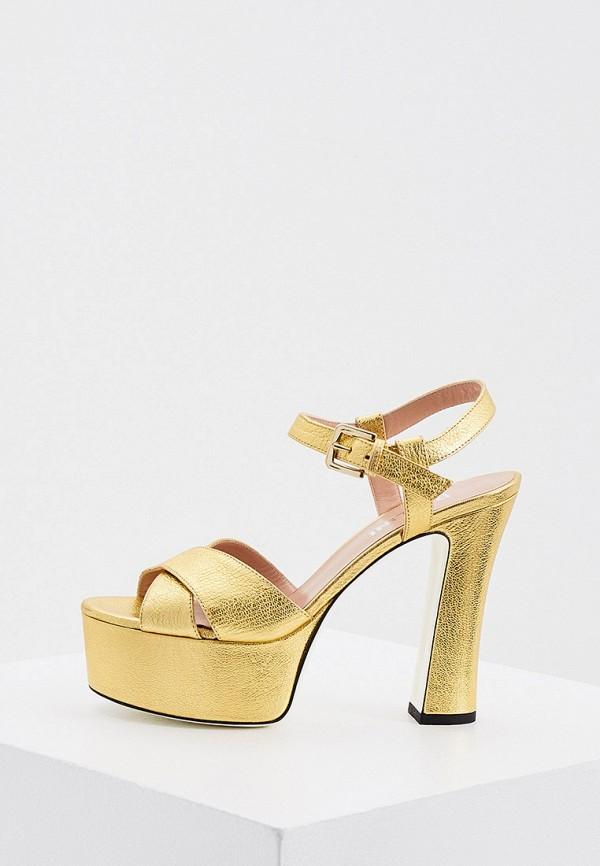 Босоножки Pollini золотого цвета