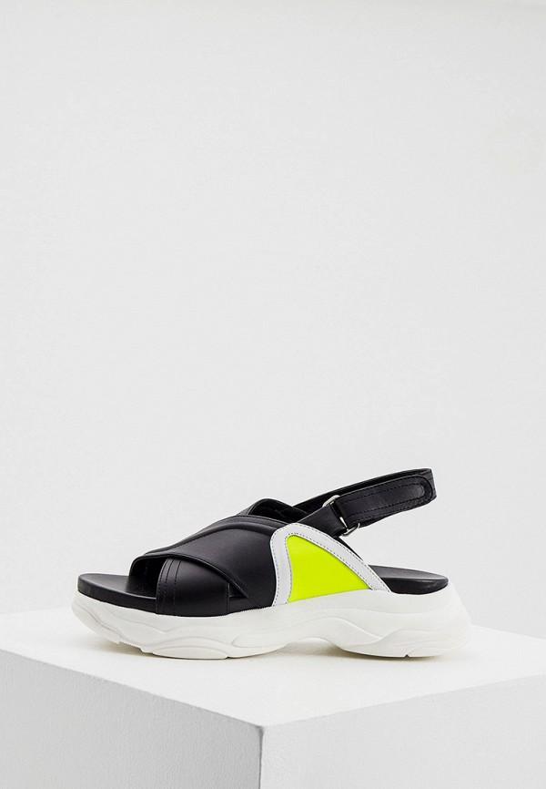 женские сандалии pollini, черные