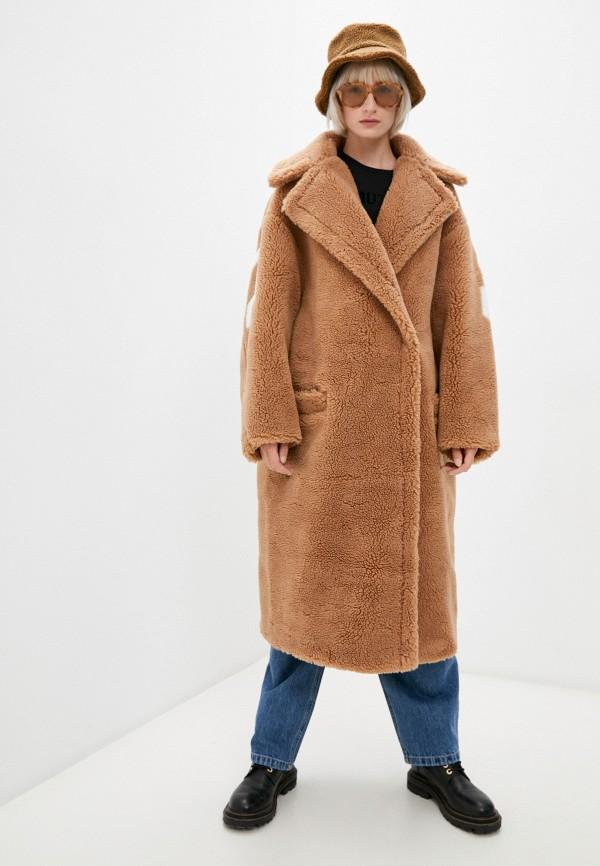 женская шуба forte dei marmi couture, коричневая