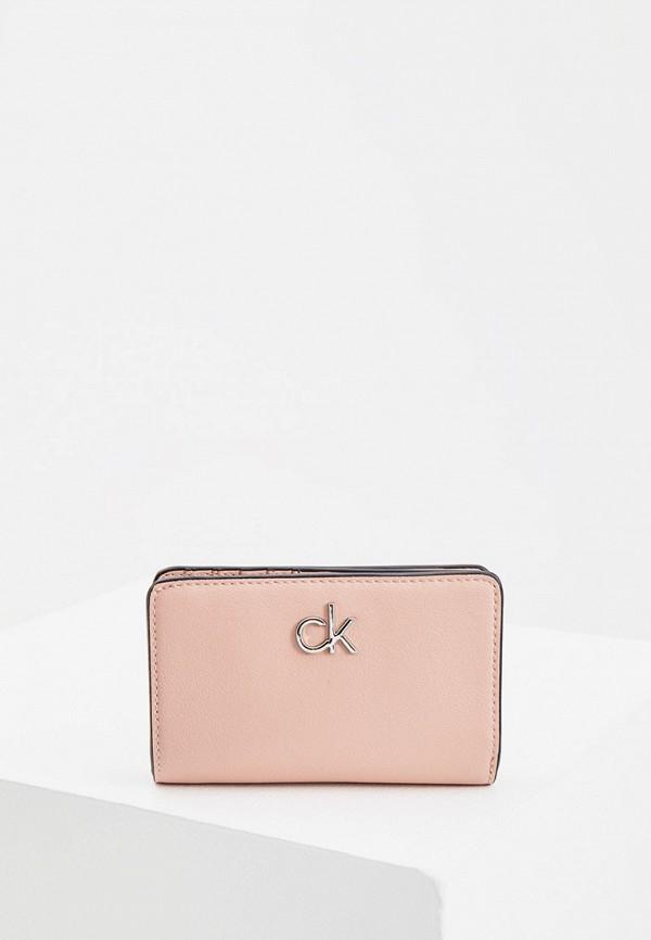 женский кошелёк calvin klein, розовый
