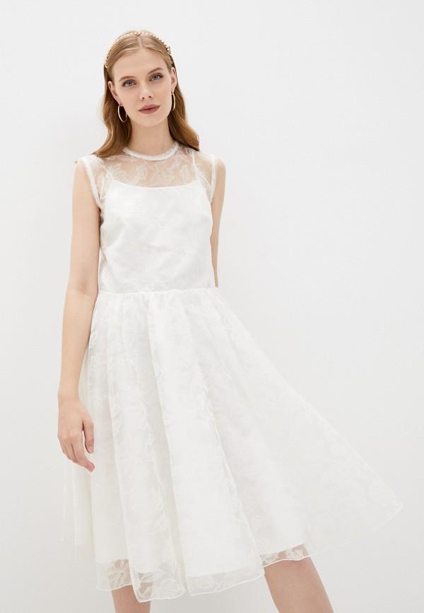женское кружевные платье pinko, белое
