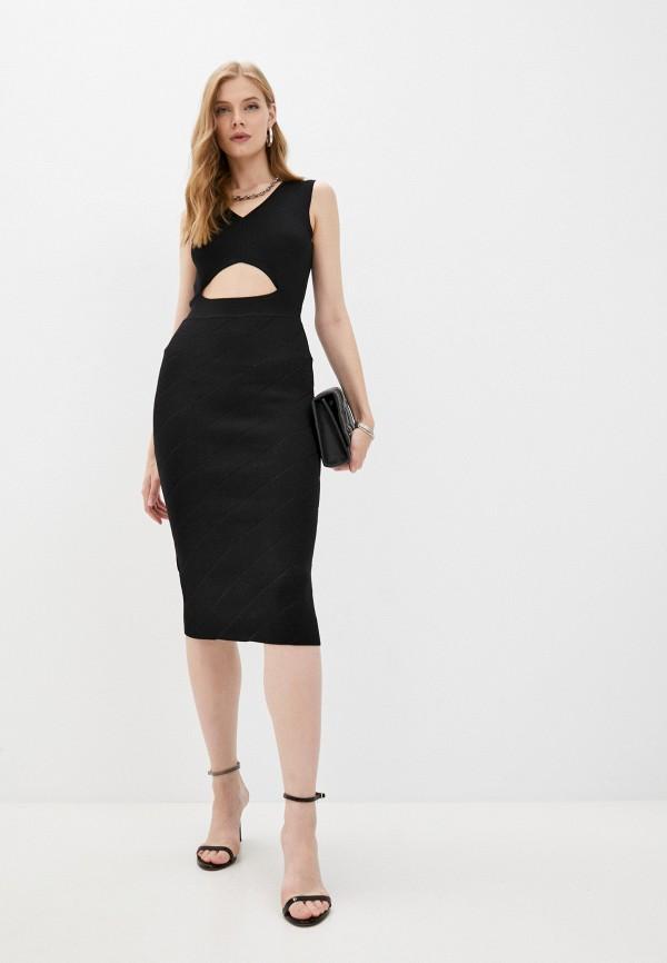 женское платье-футляр pinko, черное