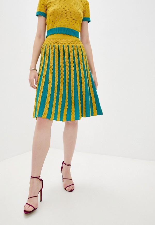женская юбка-трапеции pinko, разноцветная