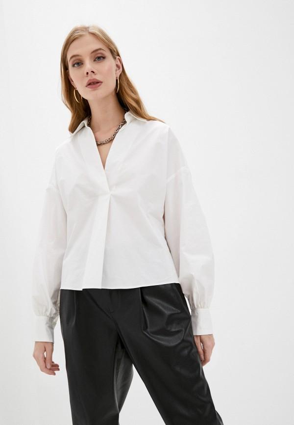женская рубашка с длинным рукавом pinko, белая
