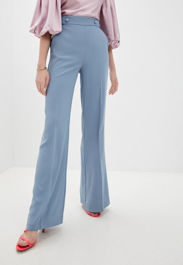женские повседневные брюки pinko, голубые