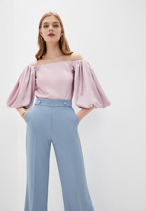 женская блузка с открытыми плечами pinko, фиолетовая