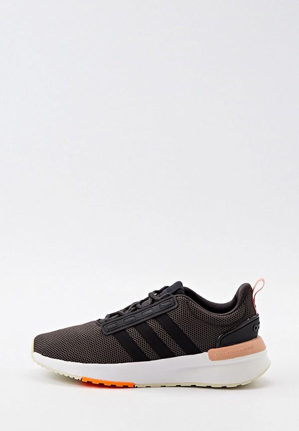 женские низкие кроссовки adidas, серые