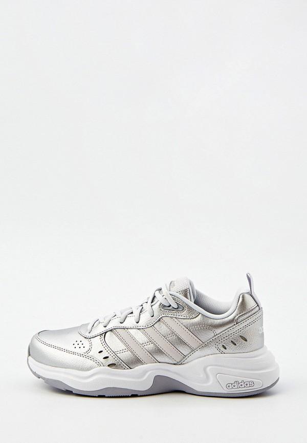 женские низкие кроссовки adidas, серебряные