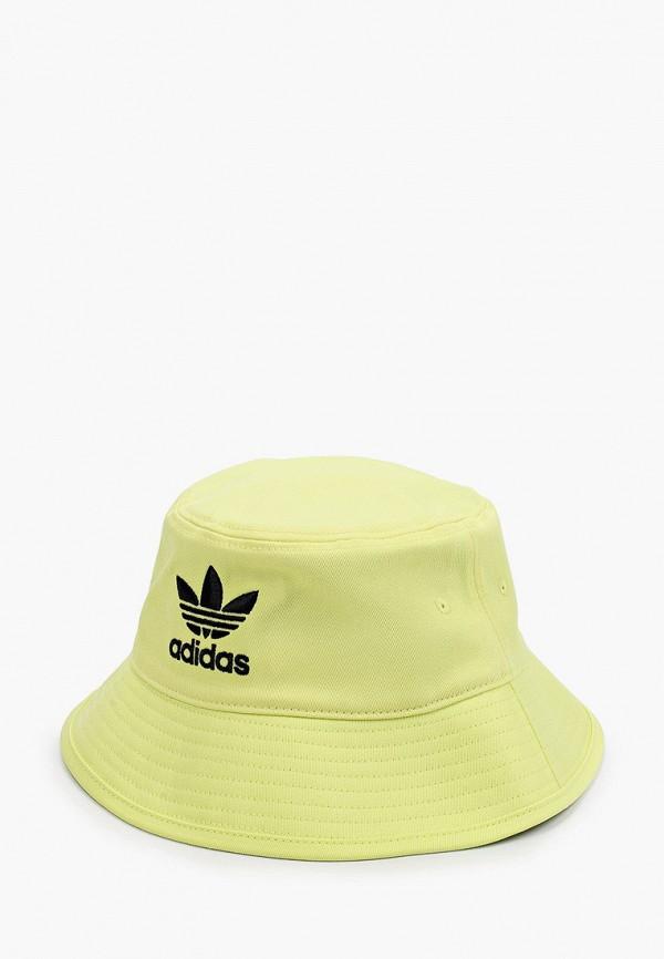 женская панама adidas, желтая