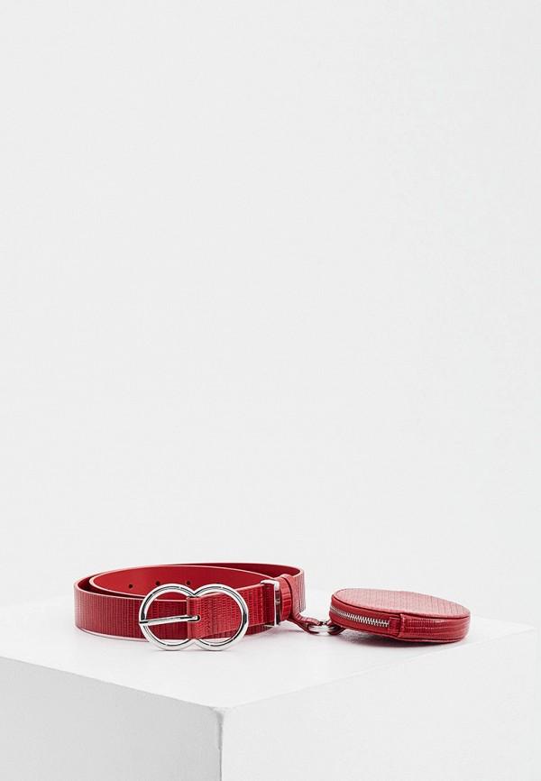 женский ремень max&co, красный