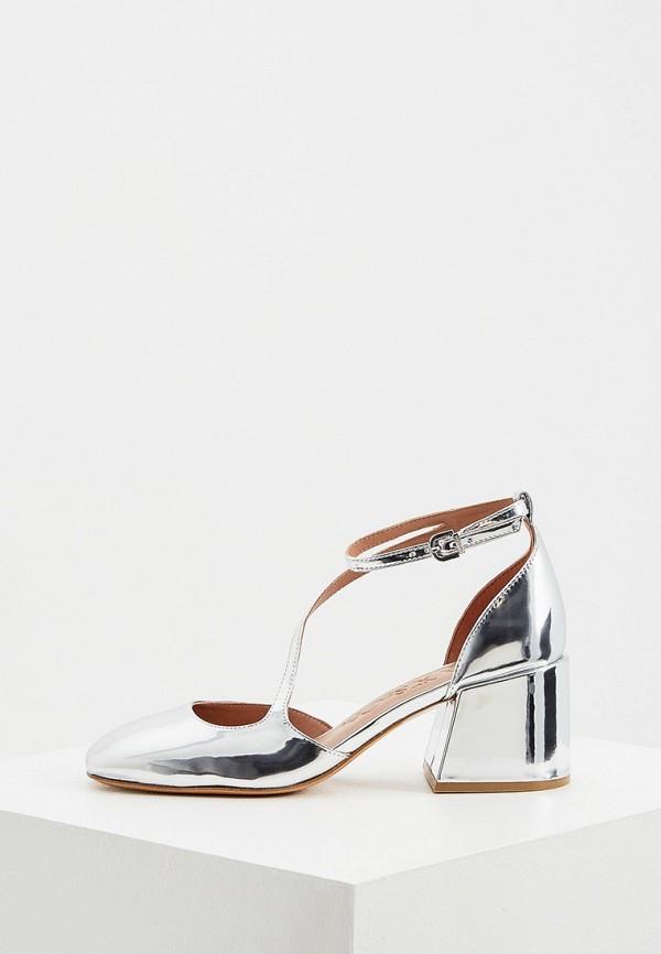 женские туфли max&co, серебряные
