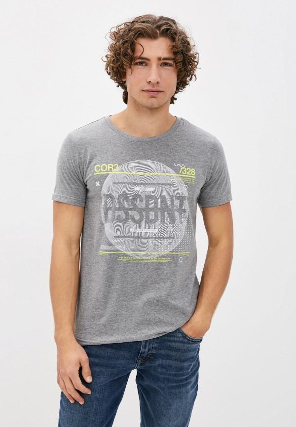 мужская футболка с коротким рукавом dissident, серая
