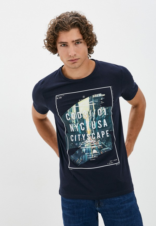 мужская футболка с коротким рукавом dissident, синяя