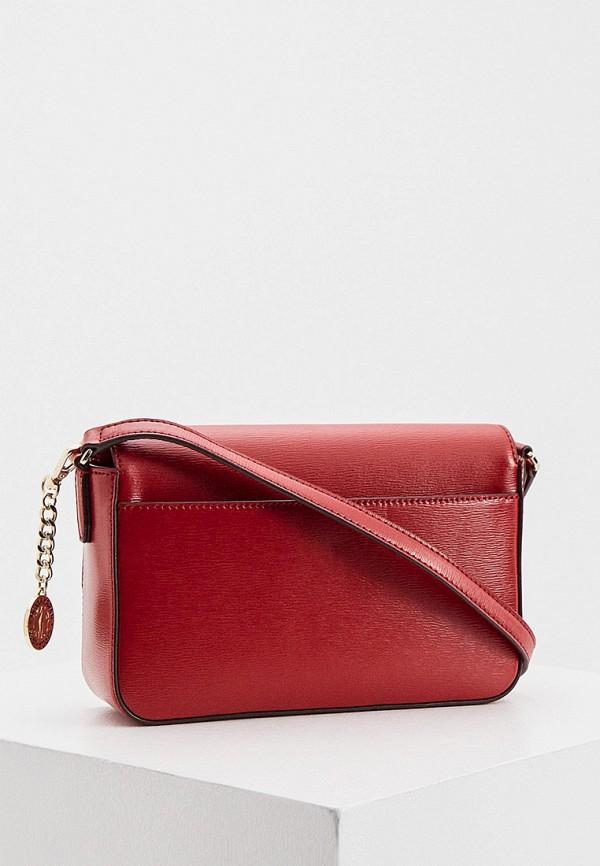 женская сумка через плечо dkny, красная