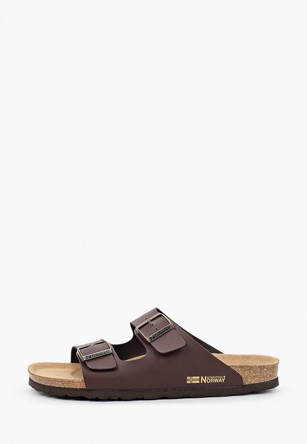 мужские сандалии geographical norway, коричневые
