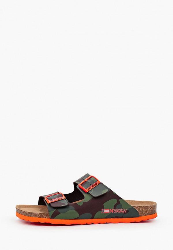 мужские сандалии geographical norway, зеленые