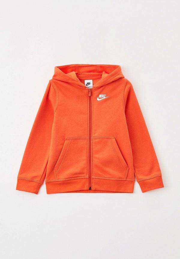 Толстовка Nike оранжевого цвета