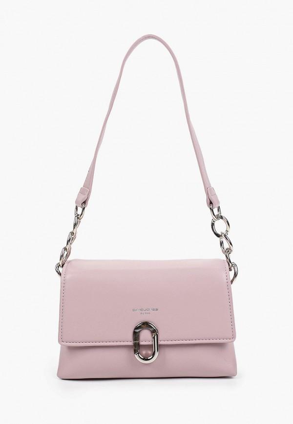 женская сумка через плечо david jones, фиолетовая