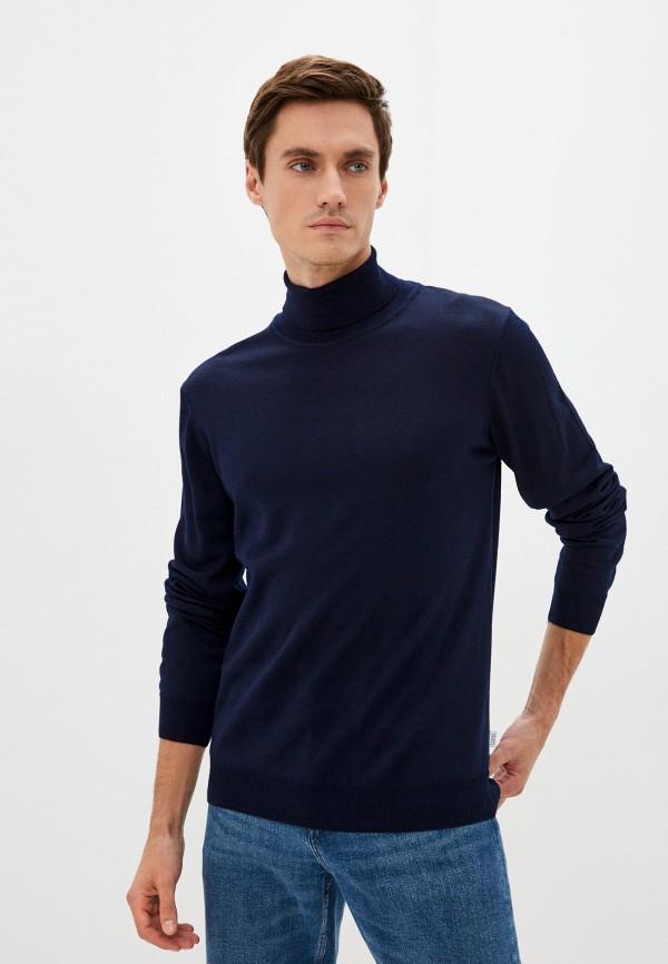 мужская водолазка casual friday by blend, синяя