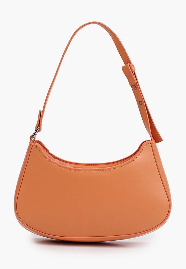 женская сумка с ручками mango, оранжевая