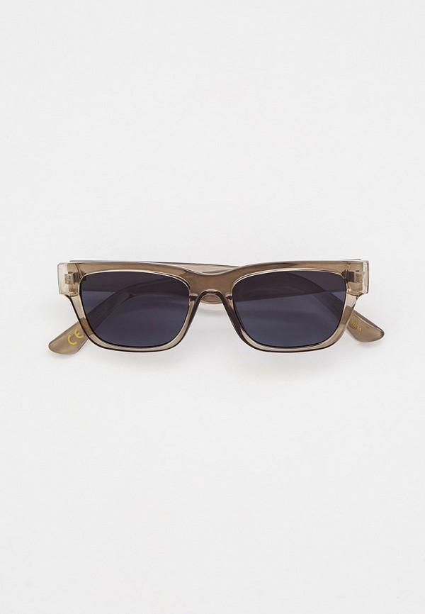 женские квадратные солнцезащитные очки mango, серые