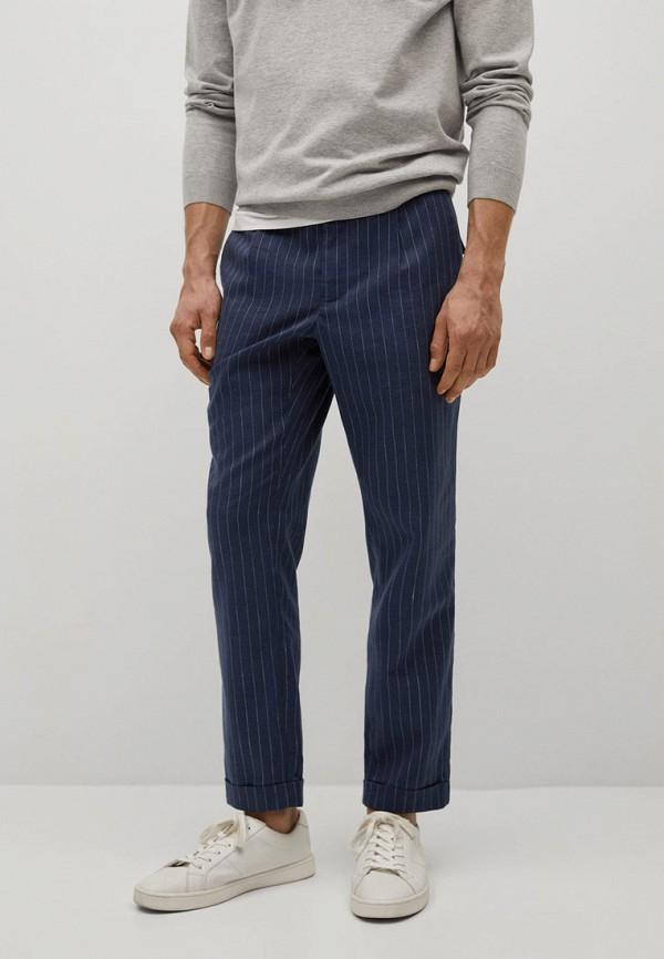 мужские прямые брюки mango man, синие