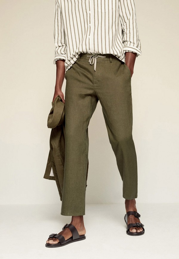 мужские брюки чинос mango man, хаки